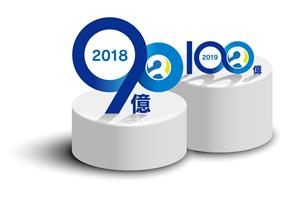 2018年 売上目標ロゴ